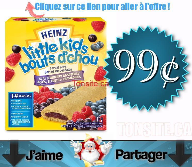 little kids heinz 99c - Barres de céréales Heinz à 99¢ après coupon!
