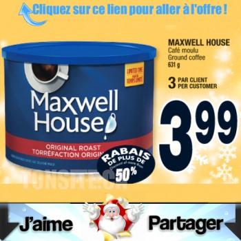 maxwell house 631g 350x350 - Café moulu Maxwell House (631g) à 3.99$ au lieu de 7.98$ (sans coupon)!