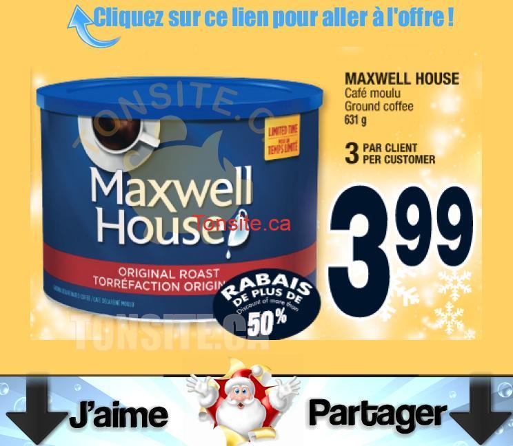 maxwell house 631g - Café moulu Maxwell House (631g) à 3.99$ au lieu de 7.98$ (sans coupon)!