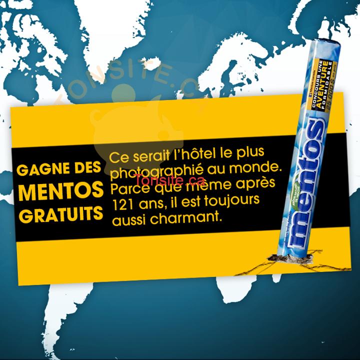 mentos concours - Concours Mentos: Gagnez une boîte de Mentos