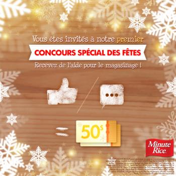 minute rice1 350x350 - Concours Minute Rice: Gagnez une carte-cadeau de 50$