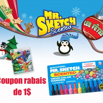 mrsketch 350x350 - Coupon rabais de 1$ sur les marqueurs Mr. Sketch