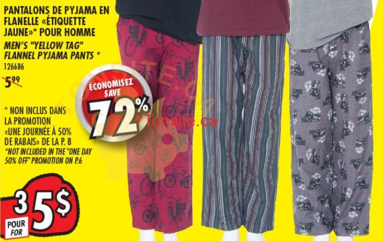 pantalons rossy 3à5dol - 3 pantalons de pyjamas en flanelle pour hommes pour 5$!