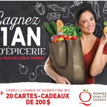 pommes qualite quebec 350x350 - Concours Pommes Qualité Québec: Gagnez un an d'épicerie ou 1 des 20 cartes-cadeaux de 200$