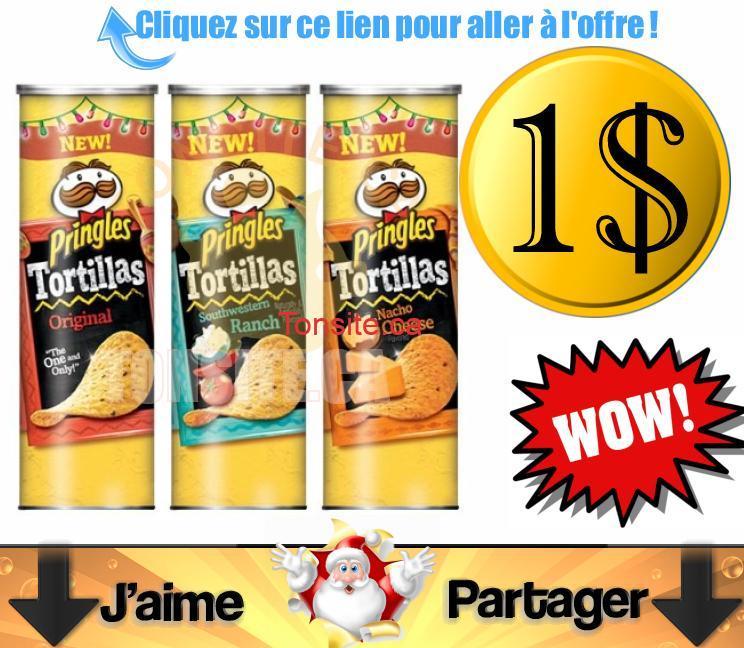 pringles 1dollar - Emballage de croustilles Pringles à 1$ après coupon!