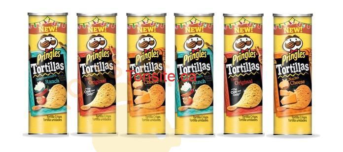 pringlestortillas - Coupon rabais: Achetez 1 emballage de croustilles Pringles Tortillas et obtenez-en 1 gratuitement