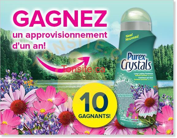 purex crystals concours - Concours Purex: Gagnez 1 des 10 approvisionnements d'un an de Purex Crystals