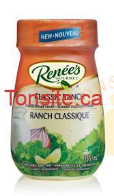 renees classic ranch - Vinaigrette ranch classique Renée's à 33¢ au lieu de 3,33$