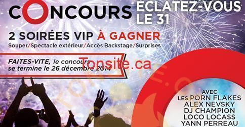 safe image - Concours Centropolis: Gagnez une des 2 soirées VIP pour la veille du jour de l'an d'une valeur de 500$