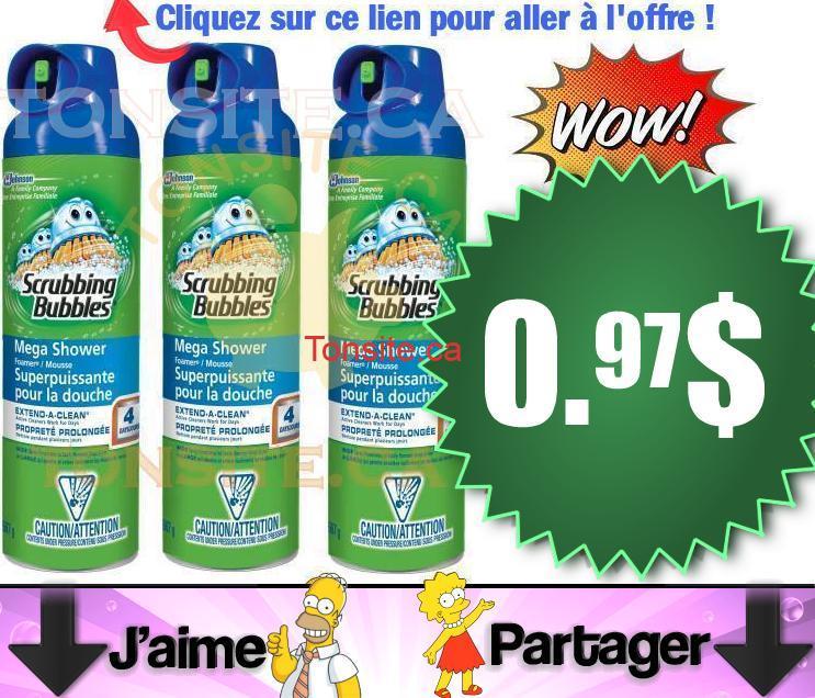 scrubbing bubbles . 97 - Nettoyant Scrubbing Bubbles en aérosol à 0.97$ (après coupon)