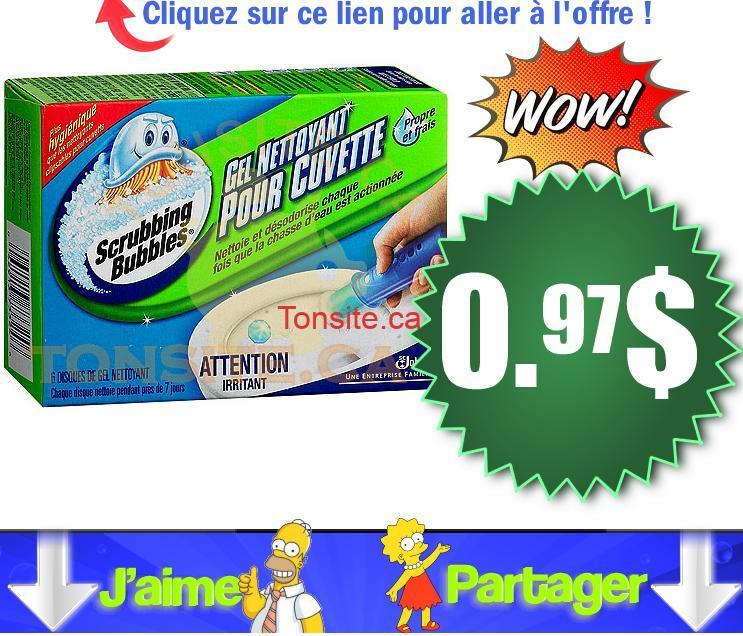 scrubbing bubbles cuvette gel 97 - Gel nettoyant pour cuvette Scrubbing Bubbles à 0.97$ (après coupon)
