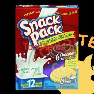 snackpack - Pouding emballage familial Snack pack (12 unités) à 1,94$ au lieu de 4,49$