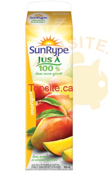 sunrype 900ml - Coupon rabais : Achetez un jus Sunrype 900ml et obtenez-en 1 gratuit!