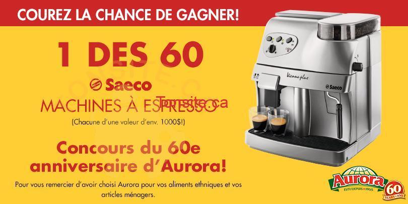 sweep.header.32341.fre  - Concours Aurora: gagner une des 60 machines à espresso de Saeco!