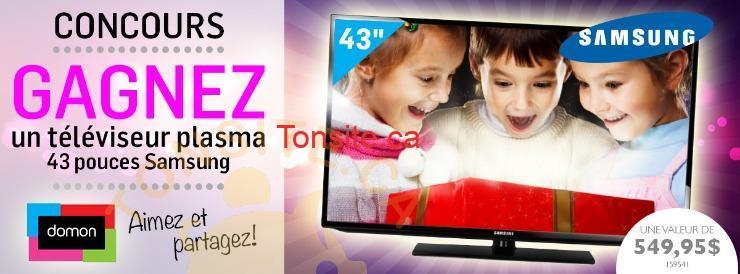 uploads 20141205T1950Z ce90c6b728fff974a0e60facbeaf8fa2 CONCOURS FACEBOOK PLASMA 3 - Concours Meubles Domon: gagner une télévision 43 pouces Samsung!