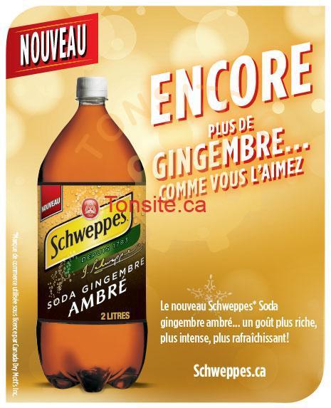 w54 schweppes 1 - GRATUIT: Demandez votre coupon de gratuité pour une bouteille gratuite de Schweppes Soda gingembre ambré de 2 L