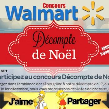 walmart concours 350x350 - Concours Walmart: Gagnez 1 des 12 magnifiques prix (valeur de 1500$)