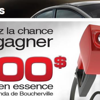 boucherville1 350x350 - Concours Honda Boucherville: Gagnez jusqu'à 500$ en essence!