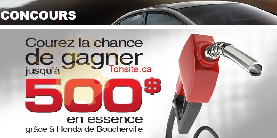boucherville1 - Concours Honda Boucherville: Gagnez jusqu'à 500$ en essence!
