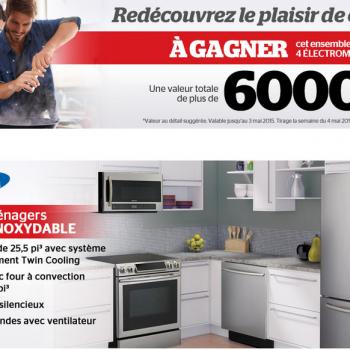 brault martineau concours2 350x350 - Concours Brault & Martineau: Gagnez un ensemble de 4 électroménagers Samsung (valeur de 6000$)