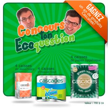cascades concours 350x350 - Concours Cascades: Gagnez un an de produits Cascades!