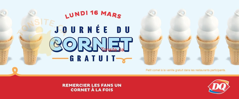dairy queen cornet - GRATUIT: Obtenez un cornet grauit chez Dairy Queen!