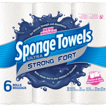sponge towels ultra fort 350x350 - 6 rouleaux d'essuie-tout Sponge Towels Ultra Fort à 2,50$ au lieu de 7,49$