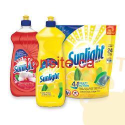 sunlight produits - Gratuit Liquide à Vaisselle à l'achat d'un détergent à lessive unidose Sunlight