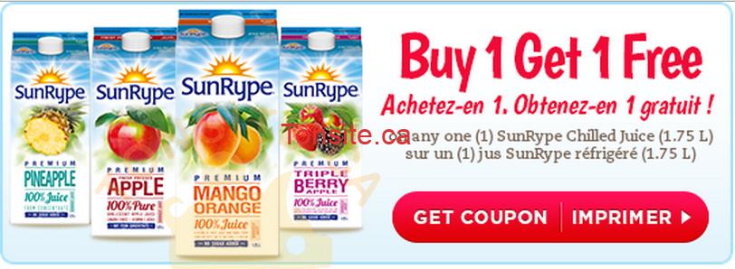 Photo of Coupon Rabais Sunrype: Achetez un jus Sunrype réfrigéré (1,75L) et obtenez-en 1 gratuit
