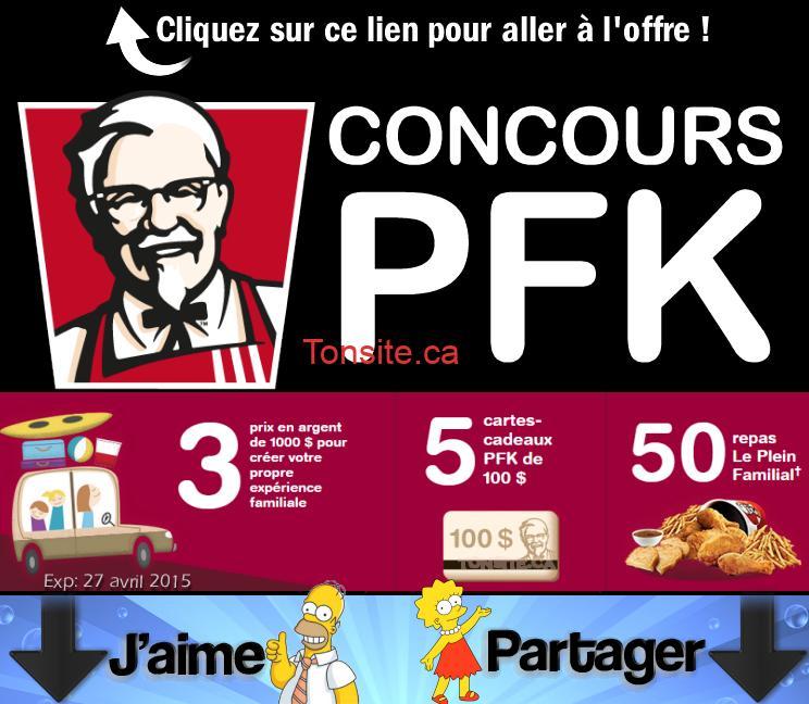 PFK CONCOURS1 - Concours PFK: Gagnez 1 carte-cadeau de 1000$ et plus!