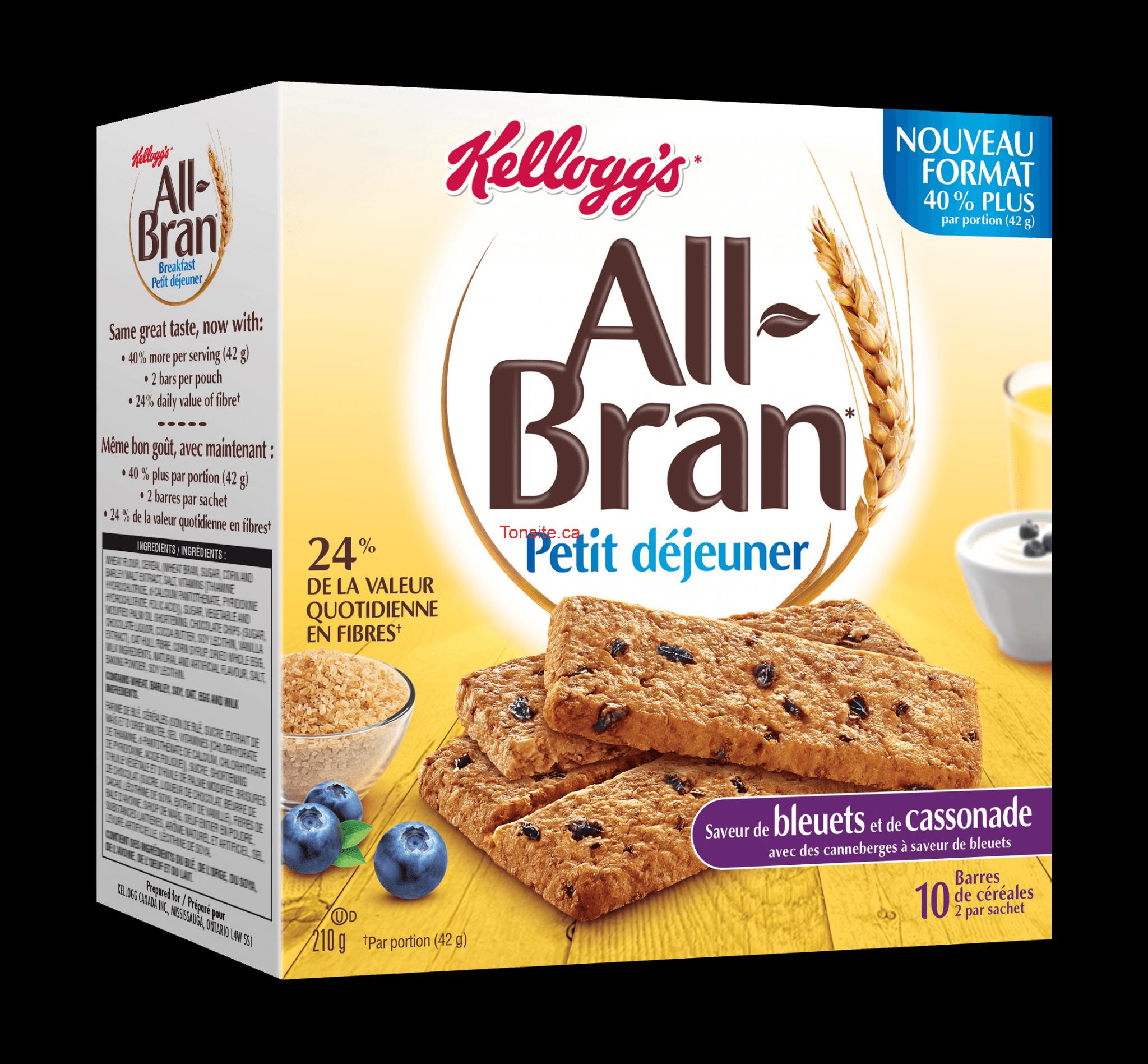 all bran - Barres All-Bran Petit Déjeuner à 1.49$ seulement!