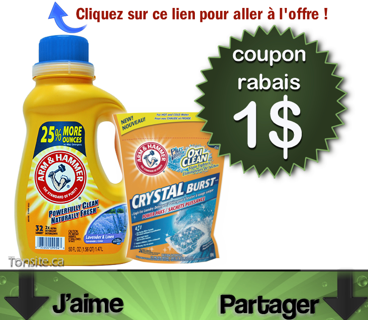Coupons promos lessive