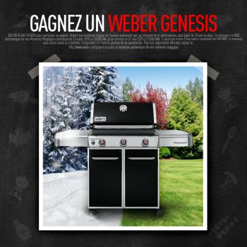 barbecue weber 350x350 - Concours Weber Grills: Gagnez un barbecue Weber Genesis (valeur de 950$)