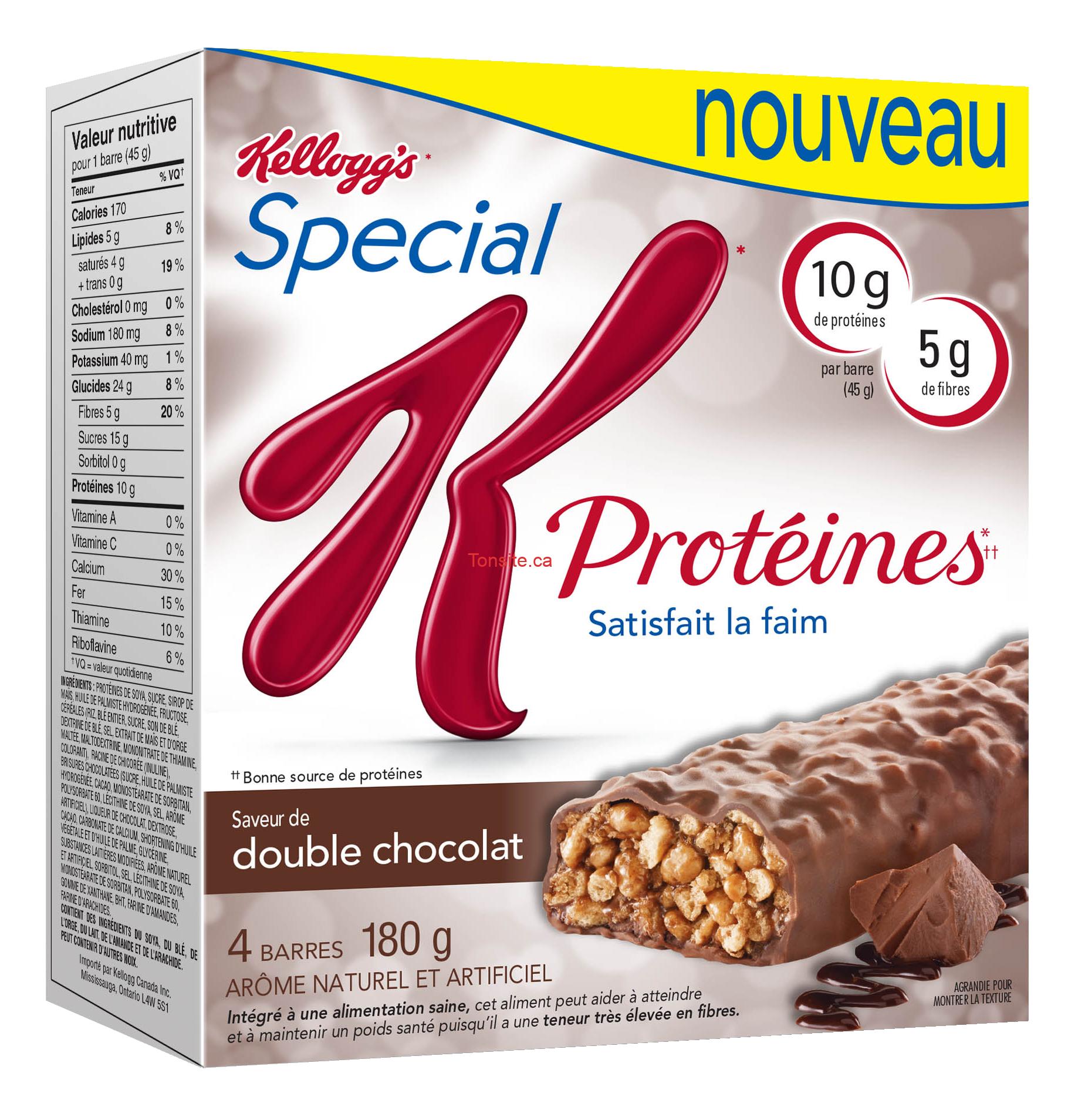 barres Special K Proteines - Coupon rabais de 1$ sur les barres Special K Proteines
