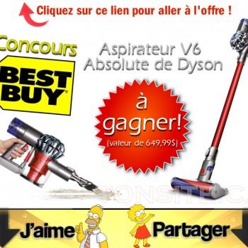 bestbuyconcours 350x350 - Concours Best Buy: Gagnez un aspirateur V6 Absolute de Dyson