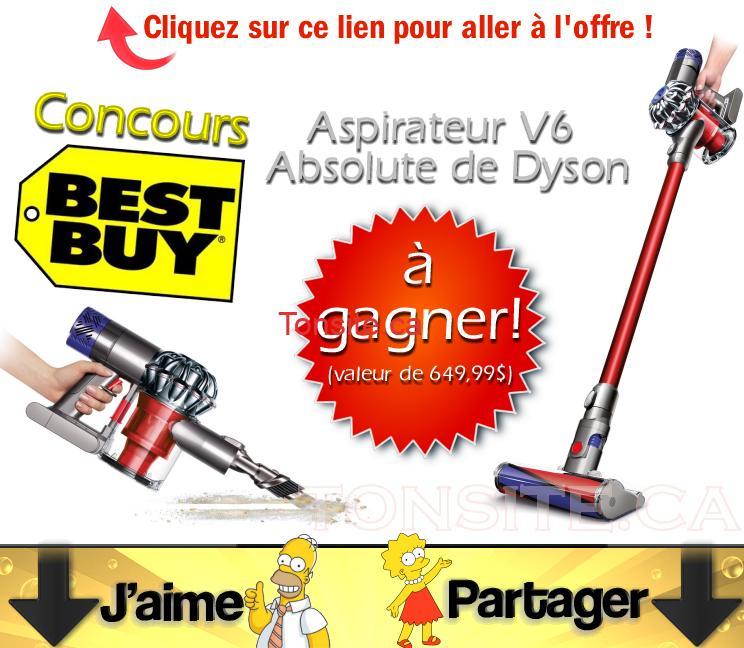 bestbuyconcours - Concours Best Buy: Gagnez un aspirateur V6 Absolute de Dyson