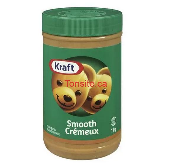 beurre arachide kraft 1kg - Beurre d'arachide Kraft (1kg) à 1.98$ au lieu de 6.78$