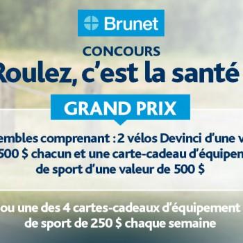brunet concours2 350x350 - Concours Brunet: 8000$ en prix à gagner!
