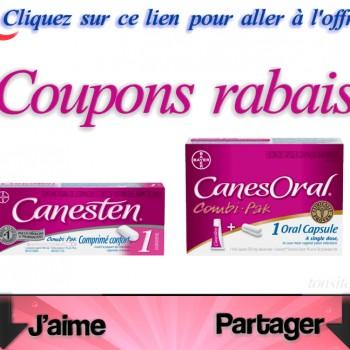 canesten jpg 350x350 - 8$ en coupons rabais sur les produit Canesten