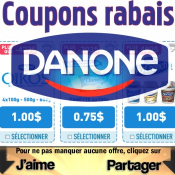 danone coupons jpg 350x350 - 2,75$ en coupons rabais sur les produits Danone