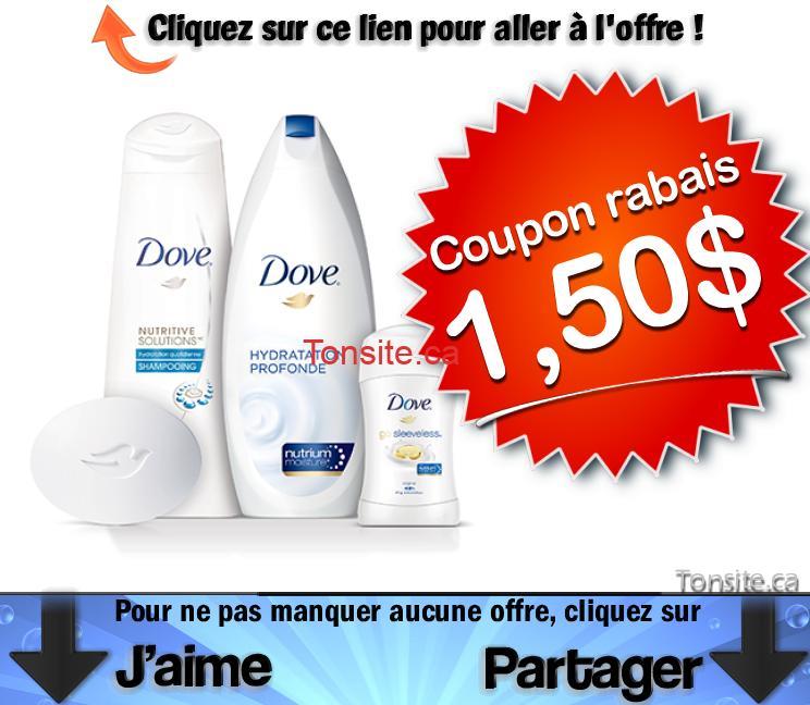 dove coupon 150 jpg - Coupon rabais de 1,50$ sur les produits Dove