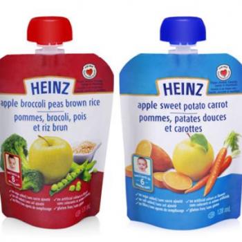 heinz sachet 350x350 - Aliments Heinz pour bébés en sachet à 84¢ (après coupon)