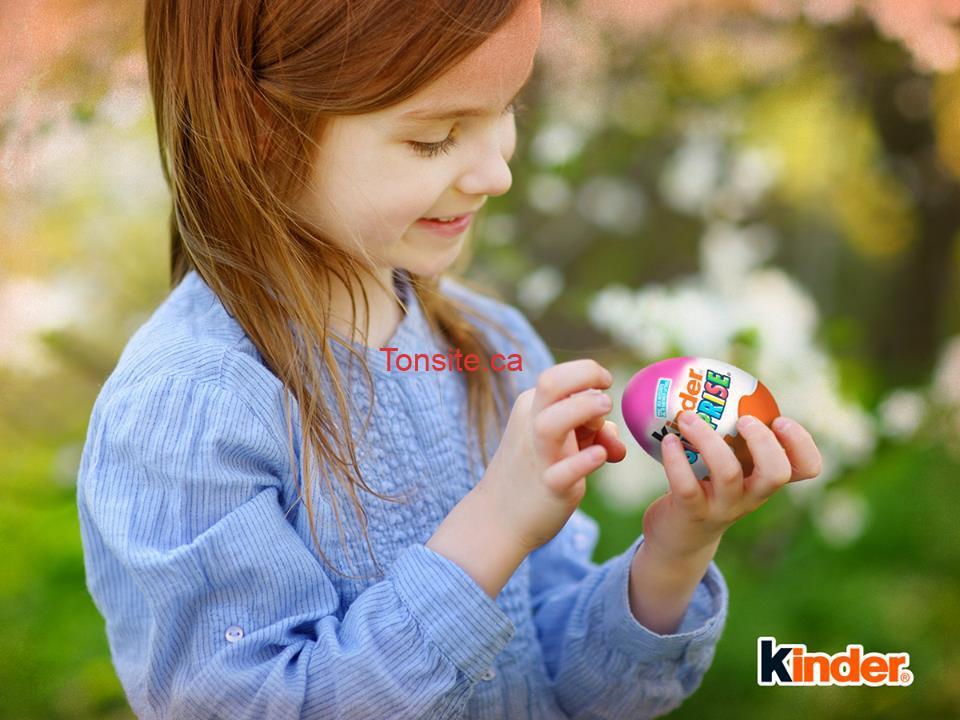 kinder concours2 - Concours Kinder: Gagnez un trio d'œufs Kinder Surprise!