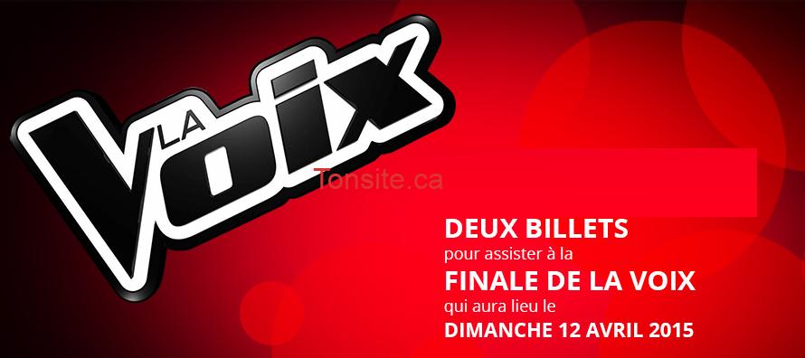 lavoix concours - Gagnez 2 billets pour assister à la finale de La Voix qui aura lieu le dimanche 12 avril 2015