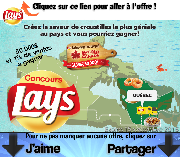 laysconcours - Concours Lays: Gagnez 50.000$ et 1% des ventes