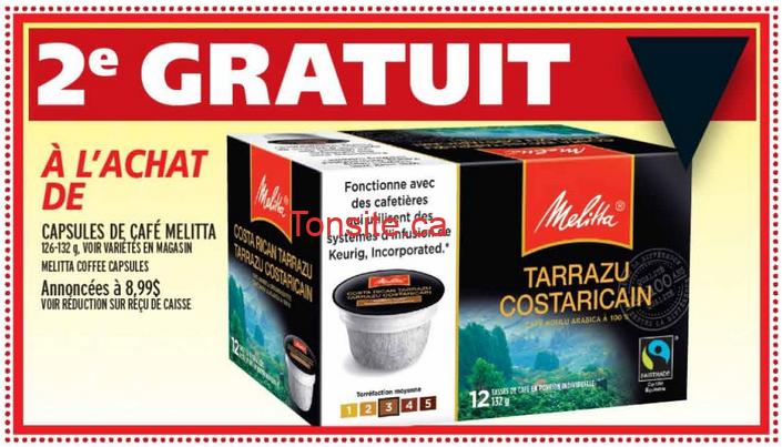 melitta.3.49 - Capsules de café Melitta a 3.49$ seulement au lieu de 8.99$