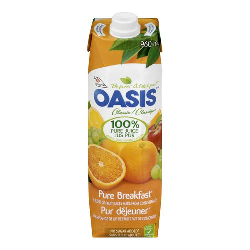 oasis jus - Jus Oasis à 88¢ au lieu de 1,49$