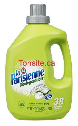 Photo of Détergent à lessive liquide La Parisienne à 1,69$ au lieu de 4,99$