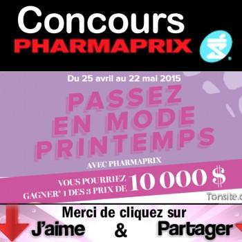 pharmaprix concours printemps 350x350 - Concours Pharmaprix: Gagnez 1 des 3 chèques de 10.000$