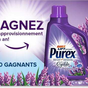 purexconcours 350x350 - Concours Purex: Gagnez 1 des 10 approvisionnements d'un an de Purex